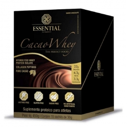 Whey Protein Cacao 30g (450g) 15 Unidades - Essential Nutrition